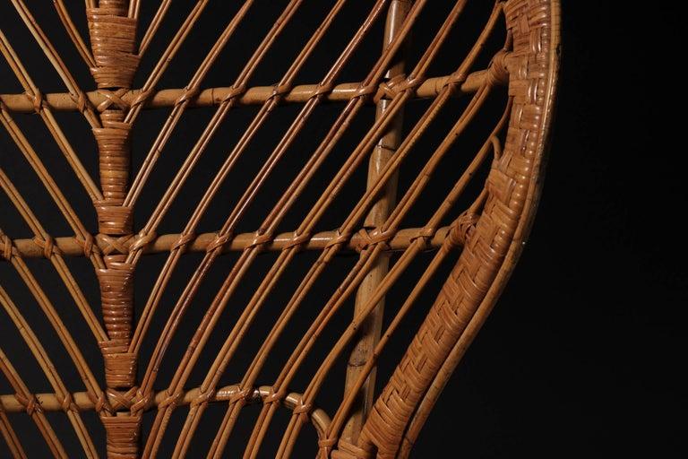 Mid-20th Century Wicker chair designed by Lio Carminati For Sale