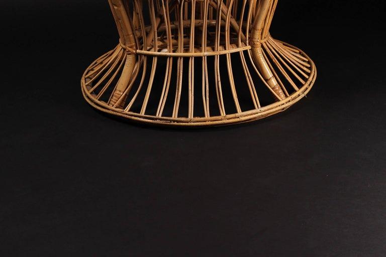Wicker chair designed by Lio Carminati For Sale 1