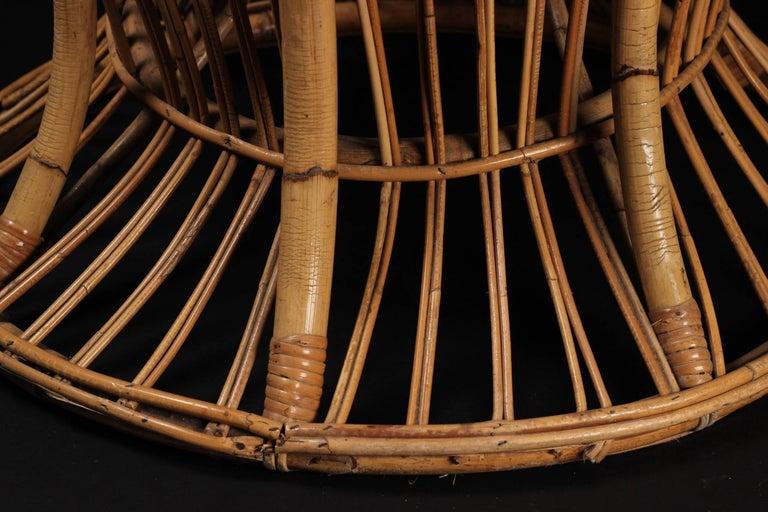 Wicker chair designed by Lio Carminati For Sale 2