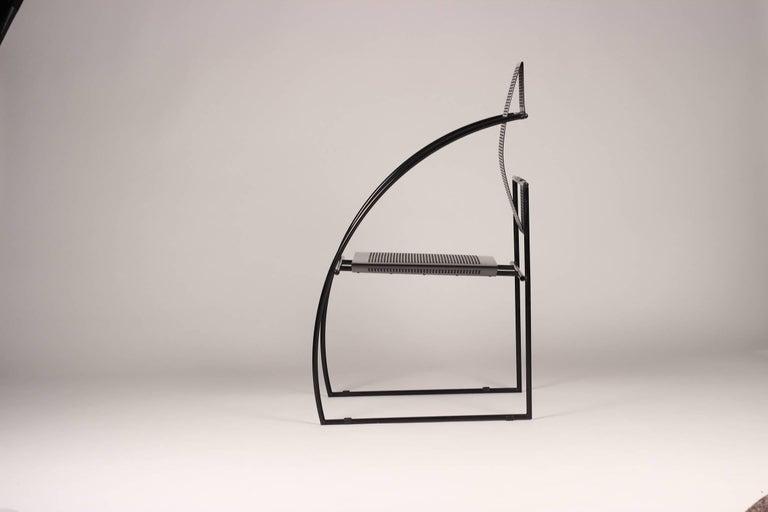 Metalwork Mario Botta Quinta Chair For Sale