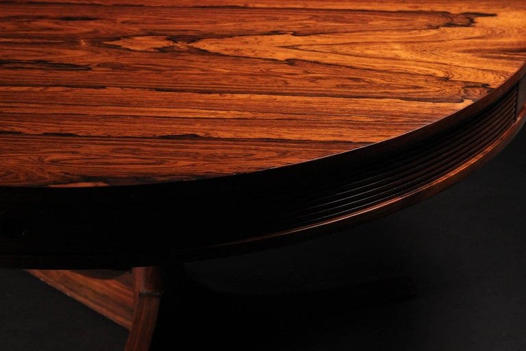 Veneer Scandinavian Modern style Rosewood Dining Table by Archie Shine For Sale