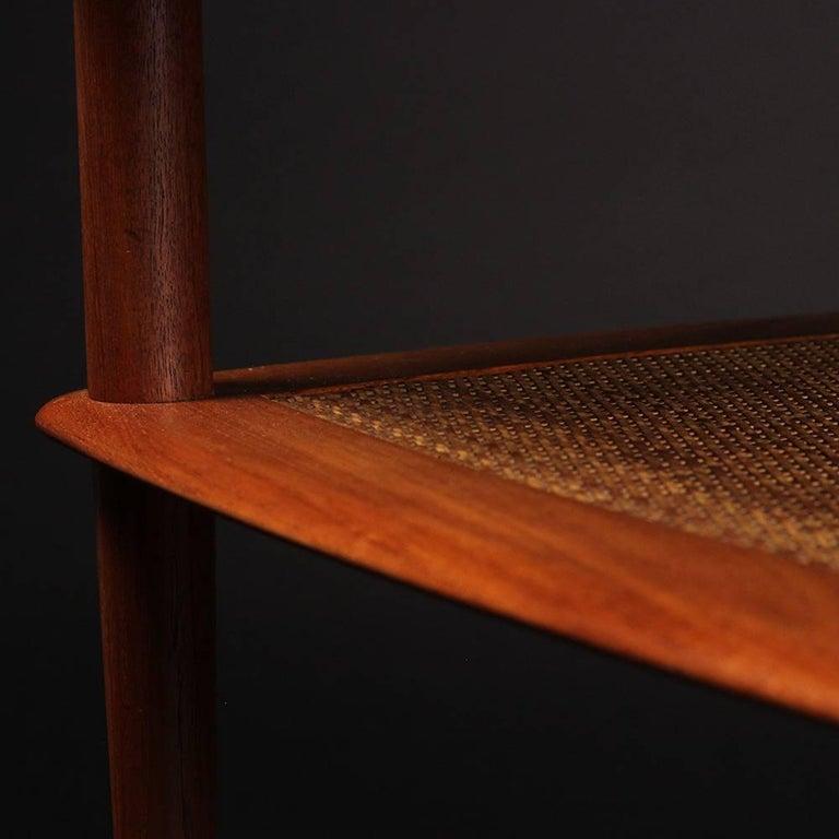Danish Scandinavian Modern  Teak End or Side Table by Peter Hvidt  For Sale