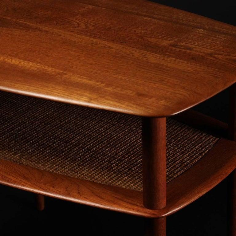 Woodwork Scandinavian Modern  Teak End or Side Table by Peter Hvidt  For Sale