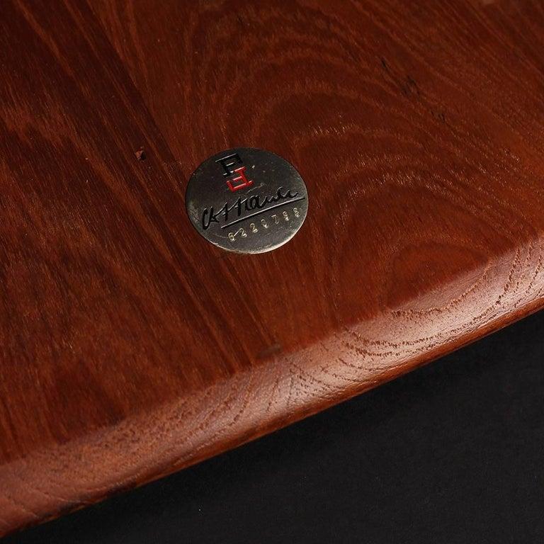 Scandinavian Modern  Teak End or Side Table by Peter Hvidt  For Sale 1
