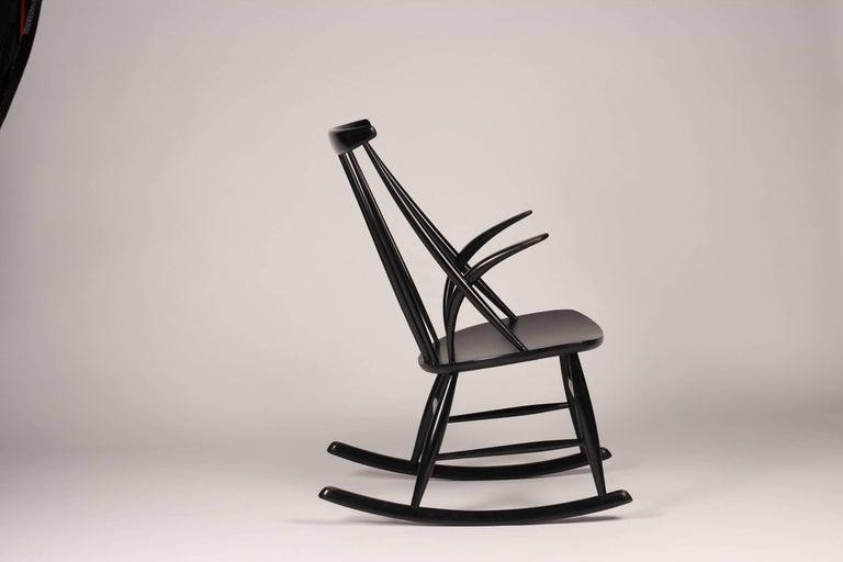 Danish Scandinavian Modern Rocking Chair by Illum Wikkelsø, 1960s For Sale
