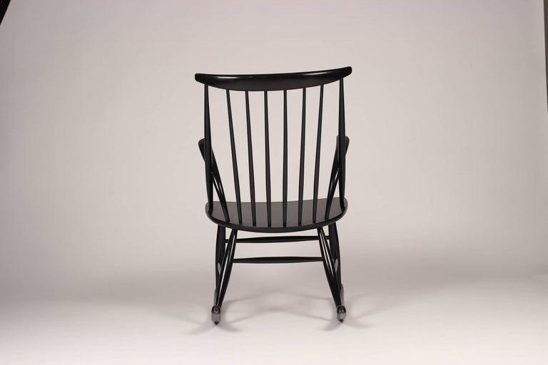 Scandinavian Modern Rocking Chair by Illum Wikkelsø, 1960s In Good Condition For Sale In London, GB