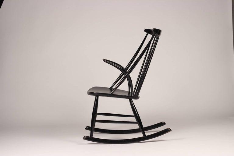 Scandinavian Modern Rocking Chair by Illum Wikkelsø, 1960s For Sale 1