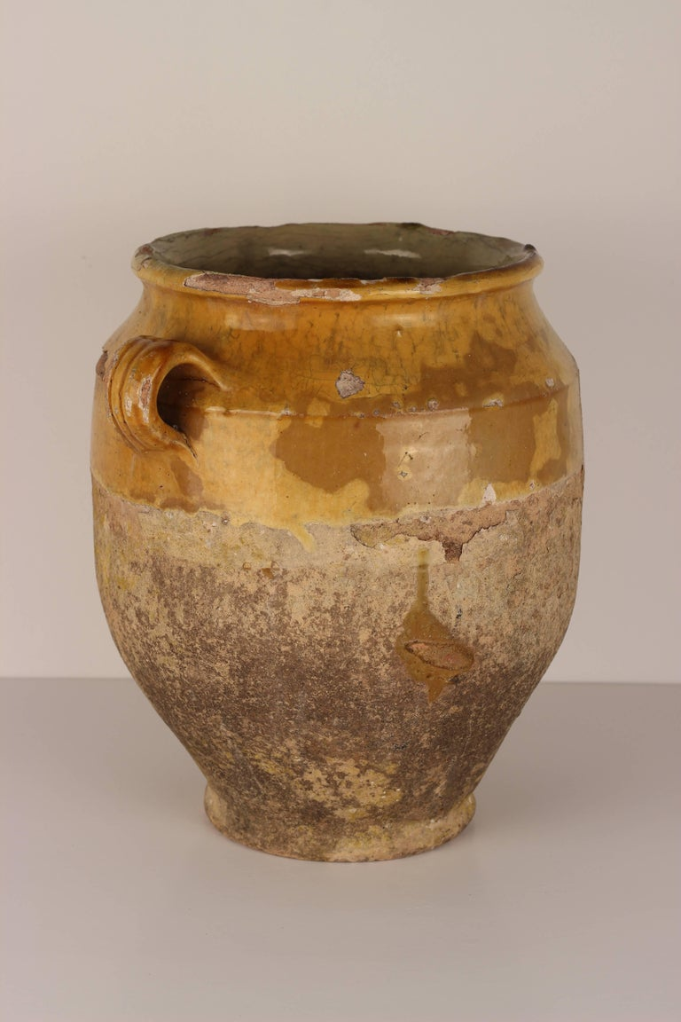 French Provincial Decorative Confit Pot from the South of France, 19th Century For Sale