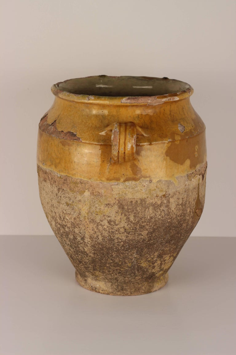 Decorative Confit Pot from the South of France, 19th Century For Sale 1