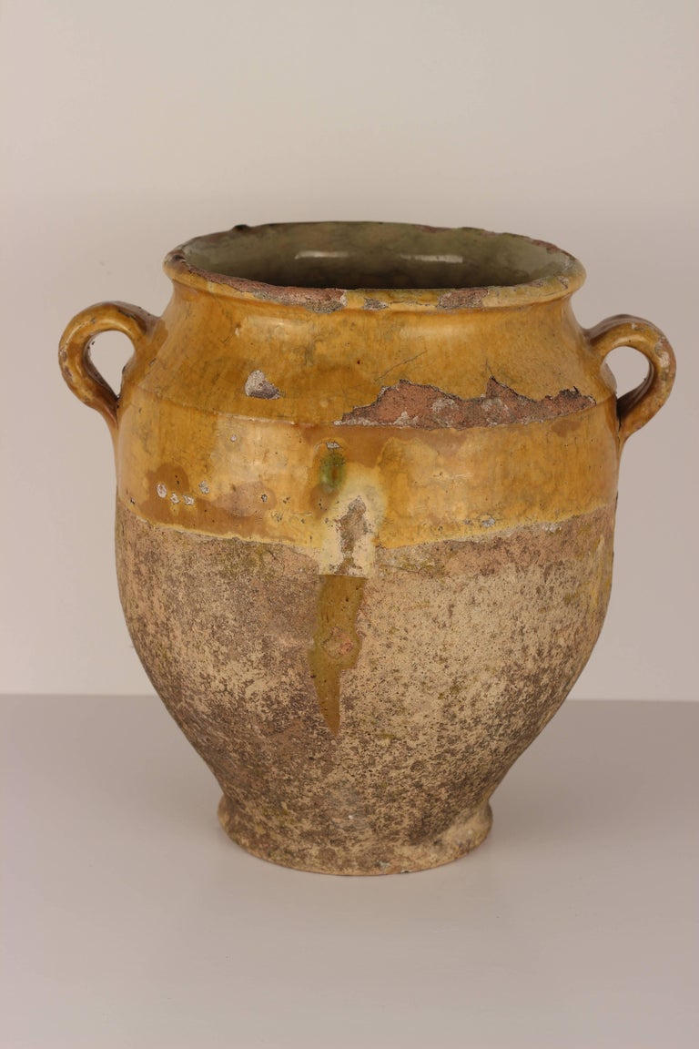 Decorative Confit Pot from the South of France, 19th Century For Sale 2