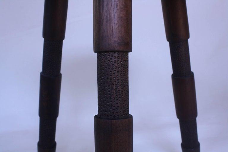 Saddle, Oxidized Walnut Wood Stool 3