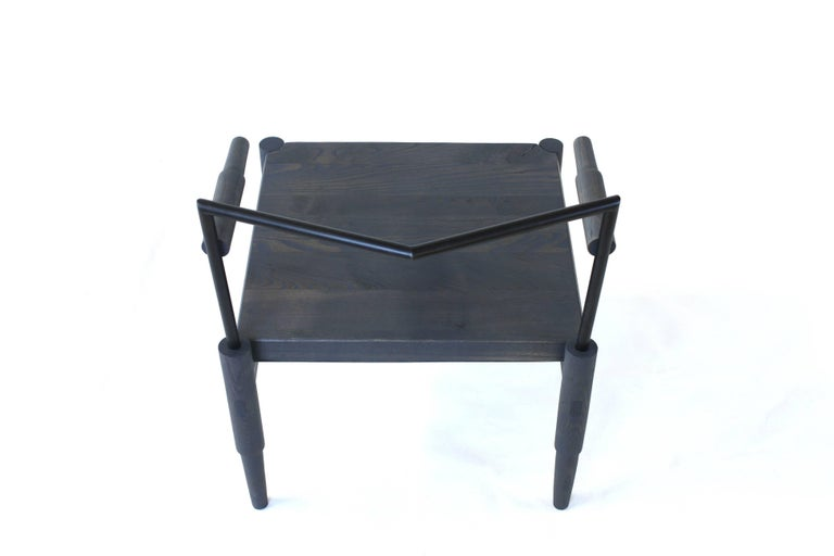 Camber, Solid Wood and Blackened Steel Lounge Chair 2