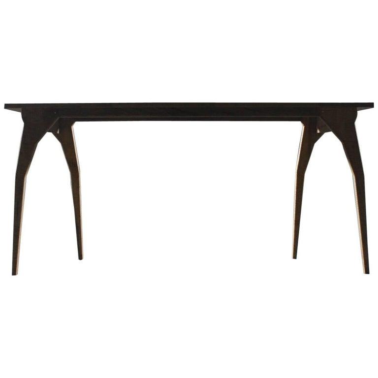 Walking, Handmade Table or Desk in Oxidized Maple
