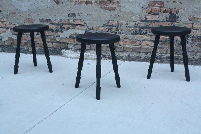 Saddle, Modern Wood Counter Stool or Bar Stool For Sale 2