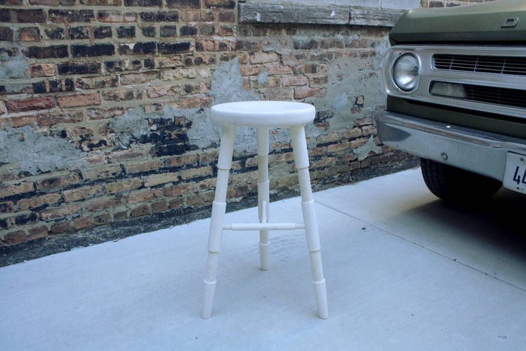 Saddle, Bleached Maple Counter Height Wood Bar Stool 2