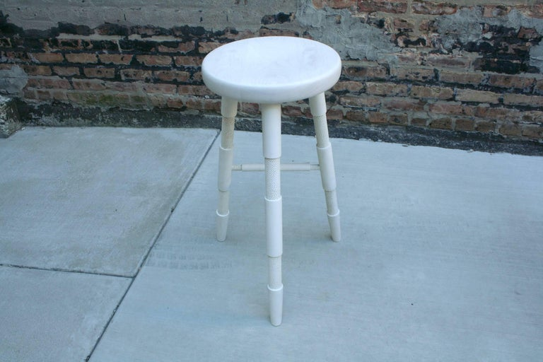 Saddle, Bleached Maple Counter Height Wood Bar Stool 3