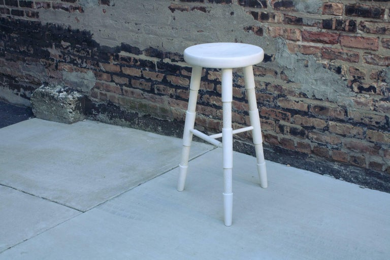 Saddle, Bleached Maple Counter Height Wood Bar Stool 4