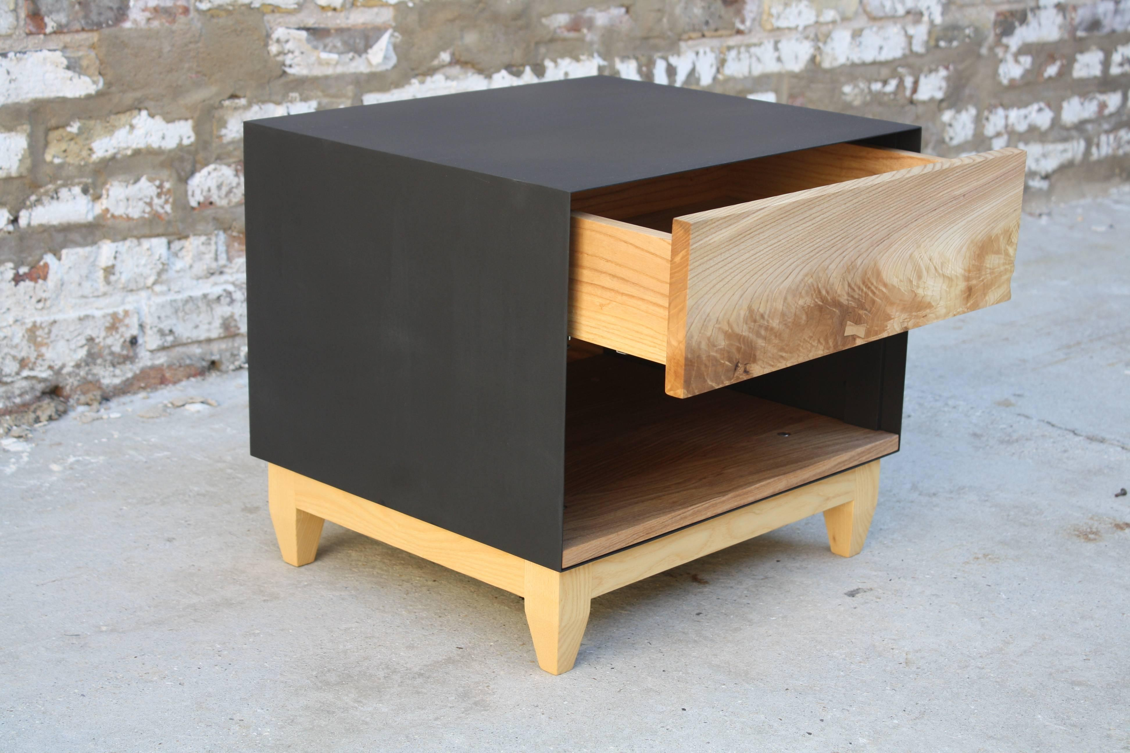 American Oxide, A Handmade Wood And Metal Nightstand Or End Table By Laylo  Studio For