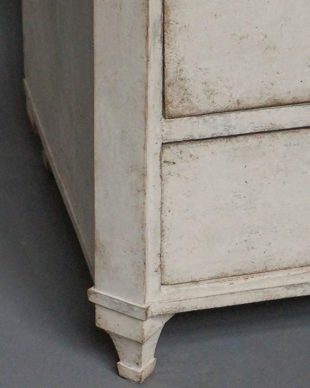 Hand-Carved Four-Drawer Neoclassical Commode For Sale