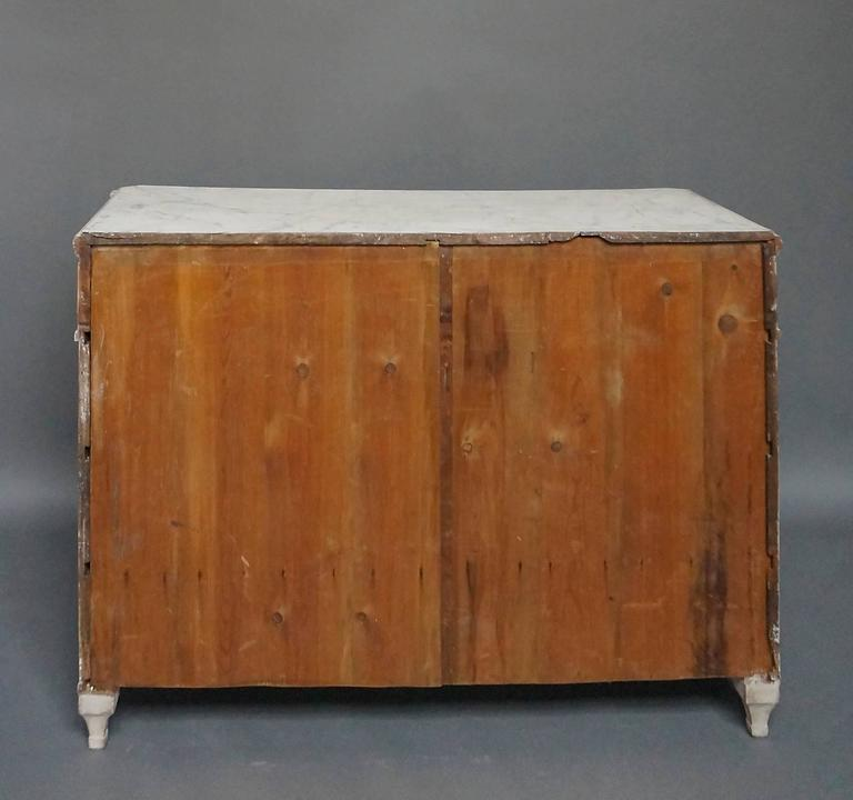 Wood Four-Drawer Neoclassical Commode For Sale