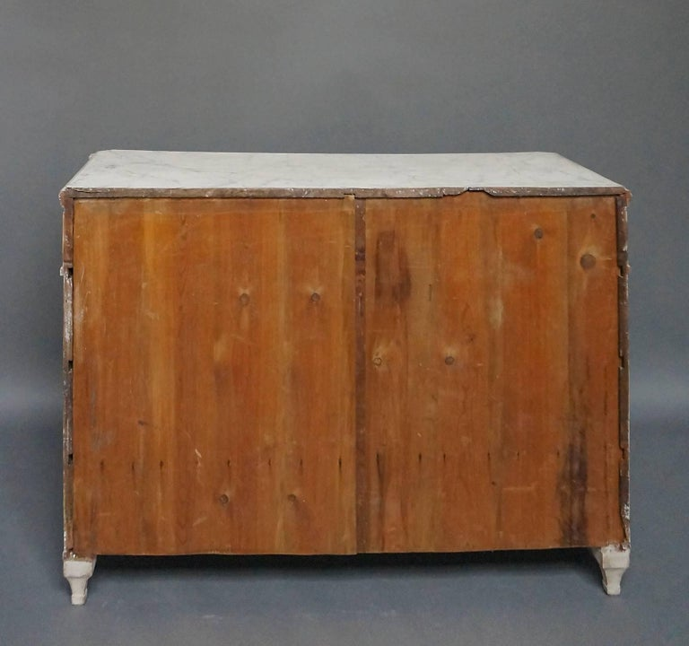 Wood Four-Drawer Neoclassical Commode