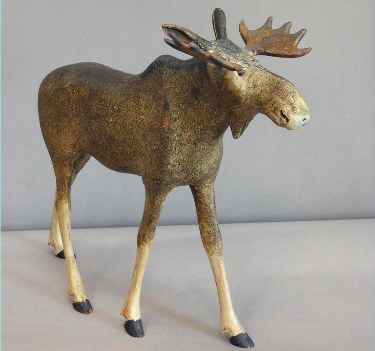 Danish Moose Carving For Sale At 1stdibs