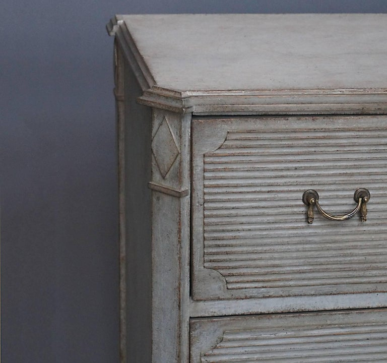 Hand-Carved Gustavian Style Chest of Drawers For Sale