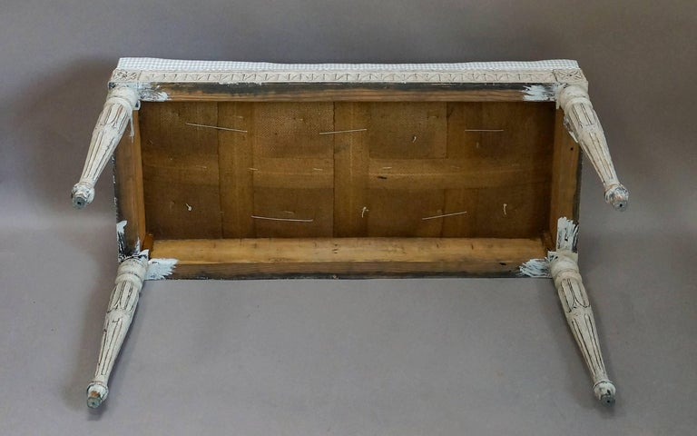 19th Century Later Swedish Bench in the Gustavian Style For Sale