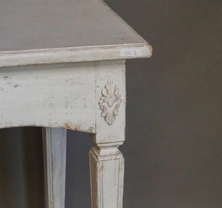 Painted Gustavian Style Console Table For Sale