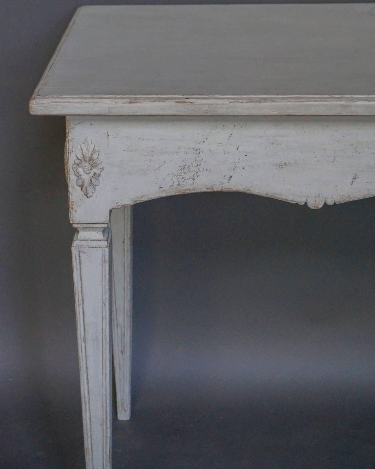 Swedish Gustavian Style Console Table For Sale