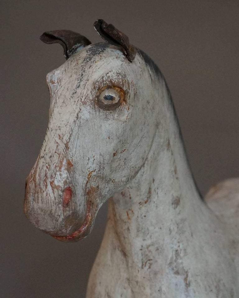 Folk Art Swedish Toy Horse from the Gemla Factory For Sale