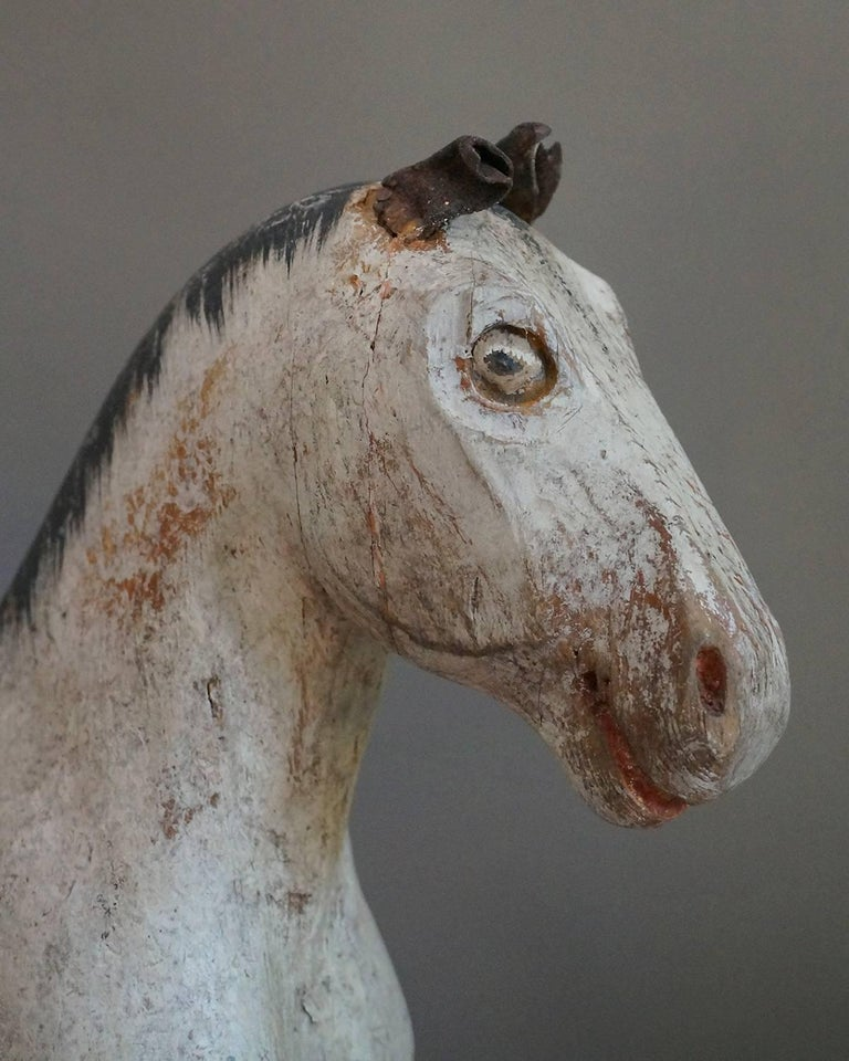 Hand-Painted Swedish Toy Horse from the Gemla Factory For Sale
