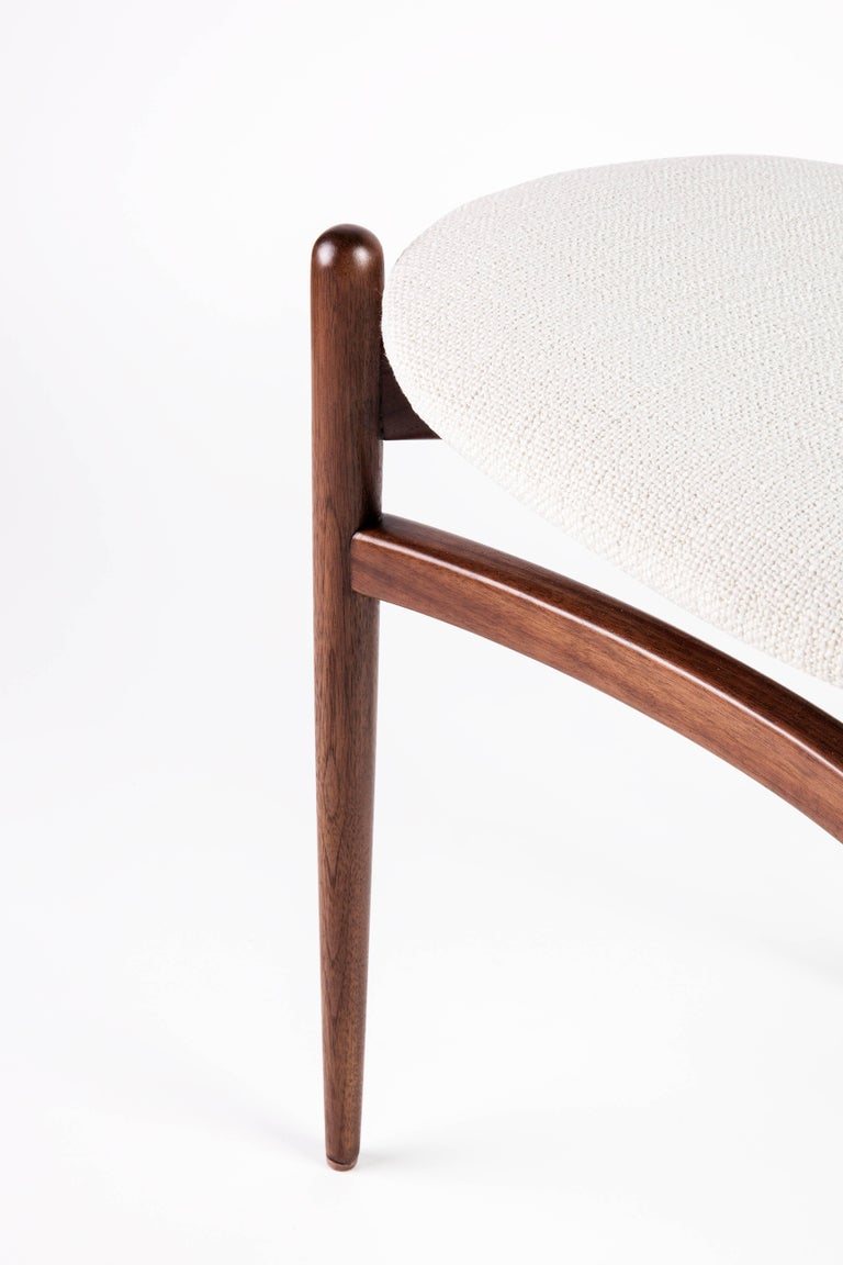 Contemporary Bianca Side Chair in Walnut, Ash or Oak For Sale