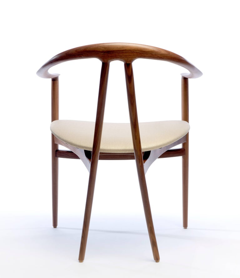 Bianca Armchair in Walnut, Ash or Oak In New Condition For Sale In New York, NY