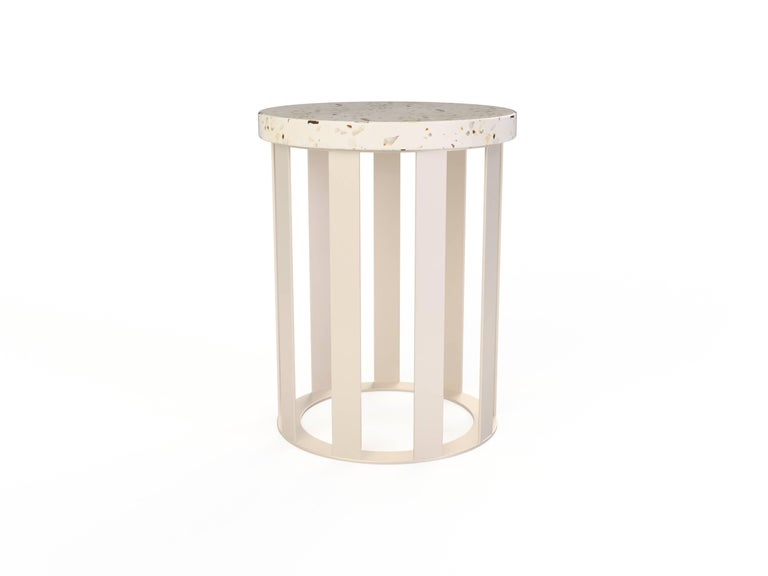 Float Side table by Pieces, Modern Customizable End Table Granite Glass Marble In New Condition For Sale In Brooklyn, NY