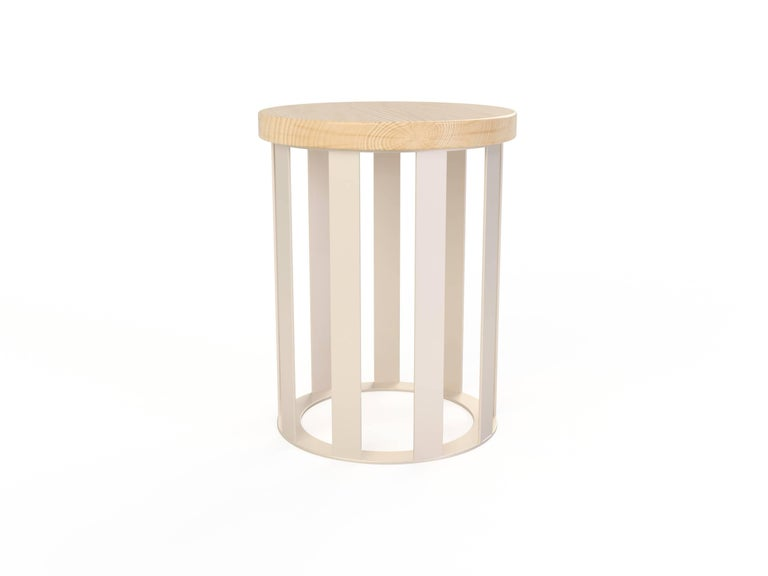 Contemporary Float Side table by Pieces, Modern Customizable End Table Granite Glass Marble For Sale