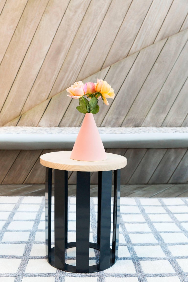 Terrazzo Float Side table by Pieces, Modern Customizable End Table Granite Glass Marble For Sale