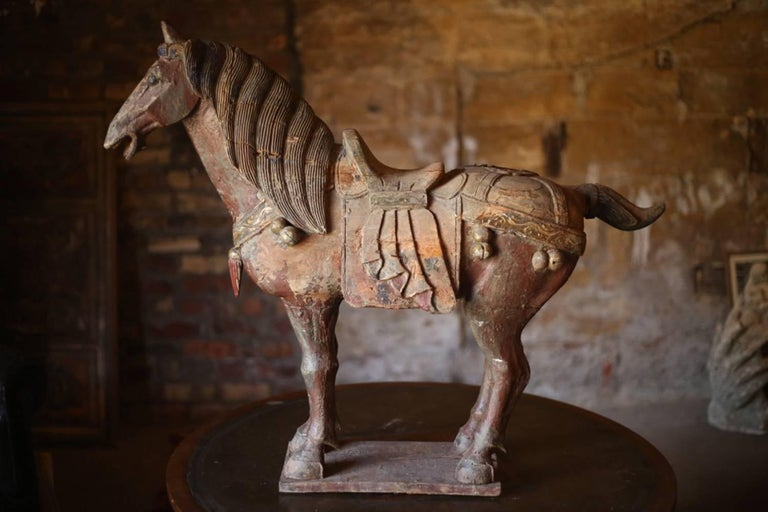 Huge Chinese Carved Wooden Horse Circa 1920s For Sale At
