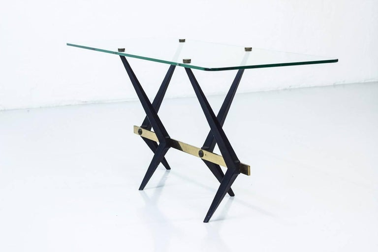 Lacquered Italian 1950s Coffee Table by Angelo Ostuni For Sale