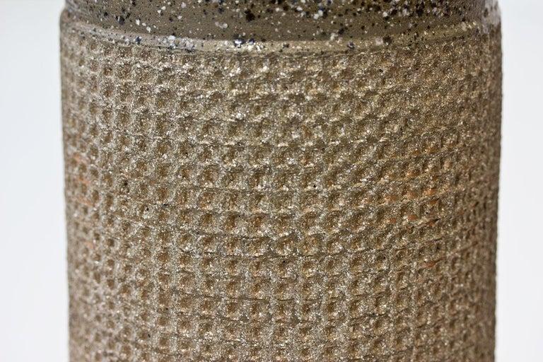 Stoneware Ceramic Cylindrical Floor Vase by Thomas Hellström for Nittssjö, Sweden, 1960s For Sale