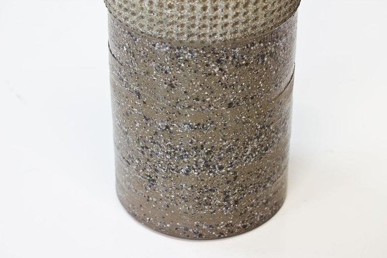 Ceramic Cylindrical Floor Vase by Thomas Hellström for Nittssjö, Sweden, 1960s For Sale 1
