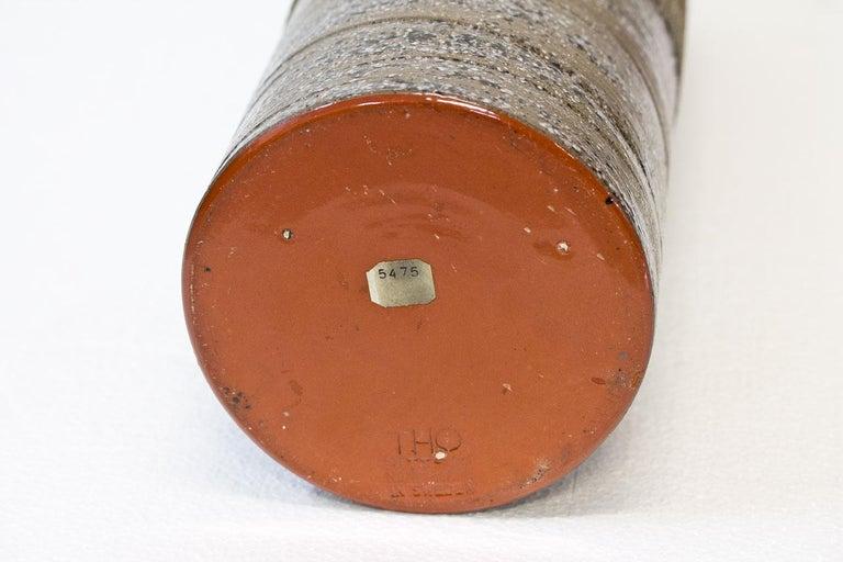 Ceramic Cylindrical Floor Vase by Thomas Hellström for Nittssjö, Sweden, 1960s For Sale 3