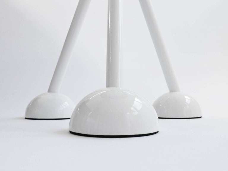 Contemporary stool table designed and made by independent product and furniture designer Connor Holland.  The Saturn Tripod is part of the Saturn Six range, a series of designs inspired by space exploration and the Saturn V rocket. The Saturn Tripod