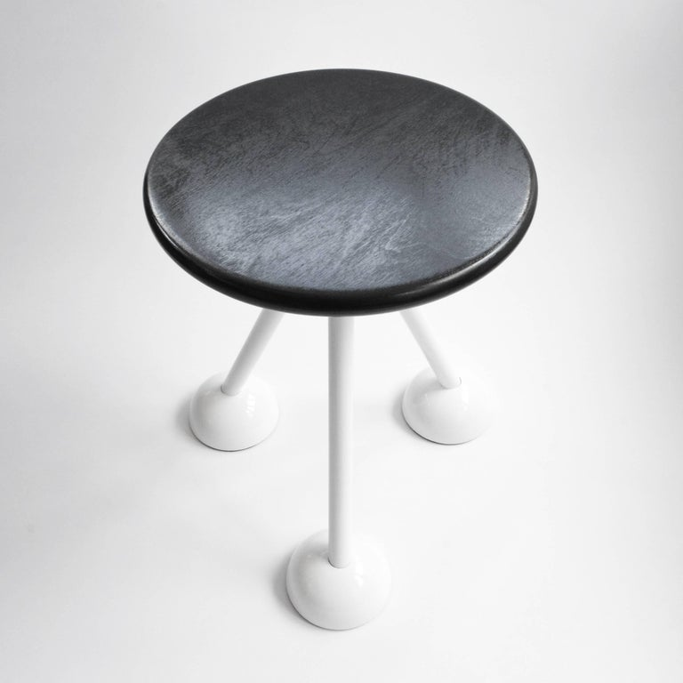 Space Age Contemporary Saturn Tripod Table by Connor Holland in Powder-Coated Steel For Sale