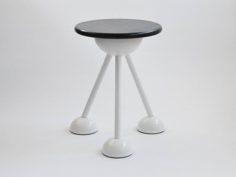 Dyed Contemporary Saturn Tripod Table by Connor Holland in Powder-Coated Steel For Sale