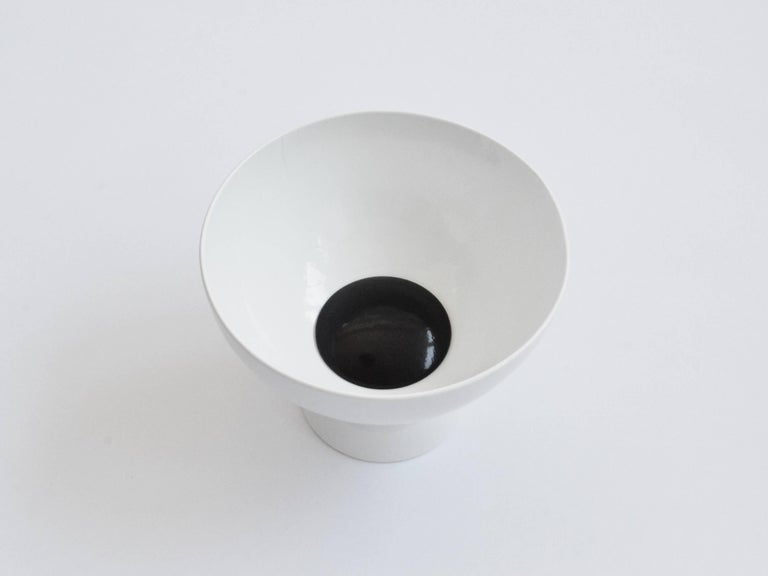 Contemporary bowl designed and made by independent product & furniture designer Connor Holland.  The Fifth Stage of the Saturn Six, a range of designs inspired by space exploration and the Saturn V rocket. The smallest of the three bowls, Huygens