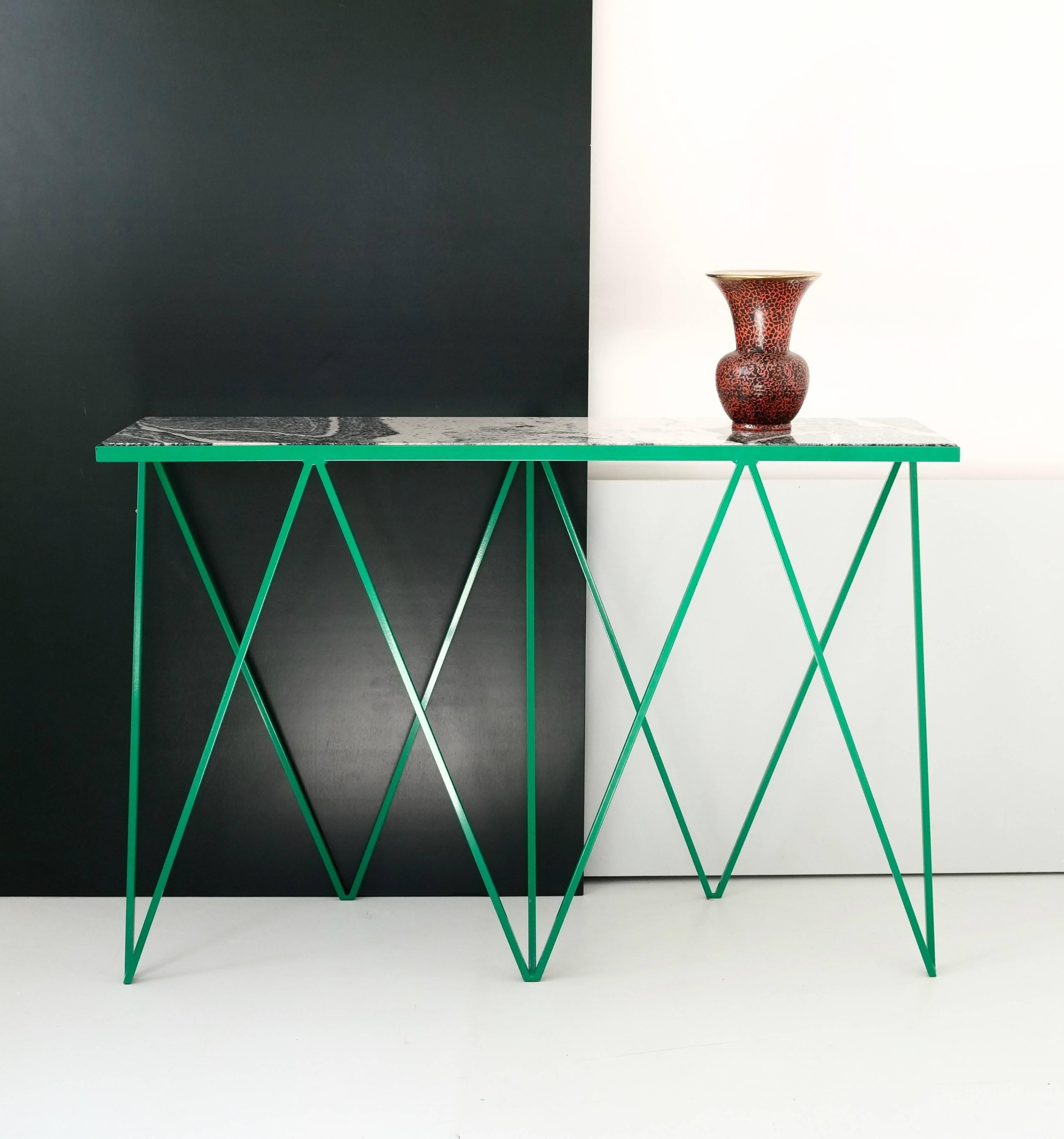 The Limited Edition Giraffe Console Table Is Made With A Bright Green  Powder Coated Steel Frame