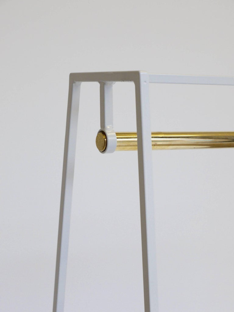 'A' Clothes Rail in Beetroot with a Brass Pole In New Condition For Sale In Leicester, GB