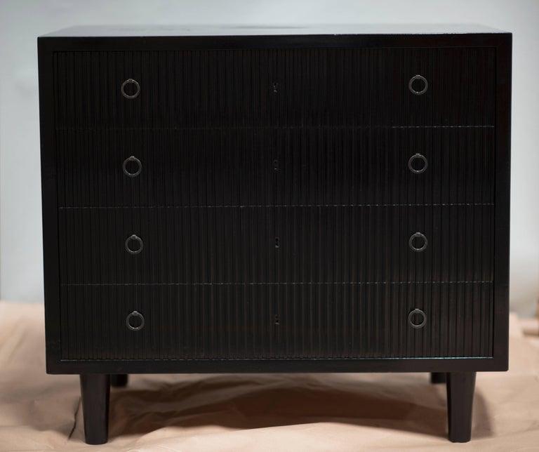 American EBONIZED Birch Cabinet/Commode For Sale