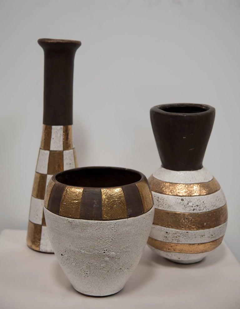 Three Glazed Jaru Pottery Vases For Sale At 1stdibs
